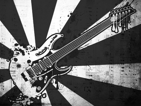 Abstract Grungy Background With Volleyball Arrowhead: Abstract Wallpaper : Guitar