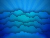 Free Abstract Wallpaper : Blue Clouds