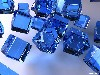 Free Abstract Wallpaper : Blue Cubes
