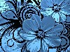 Free Abstract Wallpaper : Blue Flowers