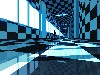 Free Abstract Wallpaper : Blue Perspective