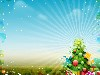 Free Abstract Wallpaper : Christmas Tree