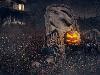Free Abstract Wallpaper : Halloween - Creepy Grunge