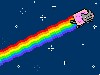 Free Abstract Wallpaper : Nyan Cat