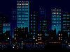 Free Abstract Wallpaper : Pixel City