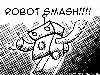 Free Abstract Wallpaper : Robot Smash