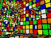 Free Abstract Wallpaper : Rubik Menger