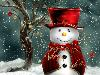 Free Abstract Wallpaper : Snowman - Christmas