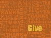 Free Abstract Wallpaper : Give Thanks