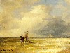 Free Artistic Wallpaper : Achenbach - Fishing Along the Shore