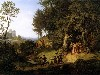 Free Artistic Wallpaper : Adrian Ludwig Richter - Bridal Procession in a Spring Landscape