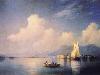 Free Artistic Wallpaper : Aivazovsky - Lake Maggiore in the Evening
