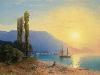 Free Artistic Wallpaper : Aivazovsky - Sunset Over Yalta