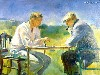 Free Artistic Wallpaper : Alice Kent Stoddard - The Chess Game