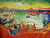 Free Artistic Wallpaper : Andre Derain - Boats in the Port of Collioure
