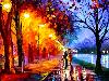 Free Artistic Wallpaper : Autumn - Oil Painting