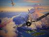 Free Artistic Wallpaper : Aviation Art - Dogfight