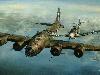 Free Artistic Wallpaper : Aviation Art - Escort Mission