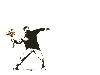 Free Artistic Wallpaper : Banksy - Flower Thrower