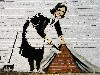 Free Artistic Wallpaper : Banksy - Sweeper