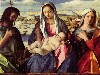 Free Artistic Wallpaper : Bellini - Madonna and John the Baptist and The Saints
