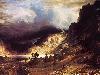 Free Artistic Wallpaper : Bierstad - A Storm in the Rocky Mountain