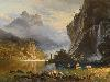 Free Artistic Wallpaper : Bierstadt - Indians Spear Fishing