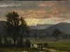 Free Artistic Wallpaper : Bierstadt - Landscape With Cattle
