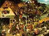 Free Artistic Wallpaper : Bruegel - Dutch Proverbs