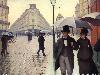 Free Artistic Wallpaper : Cailebotte - Paris, a Rainy Day