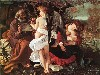 Free Artistic Wallpaper : Caravaggio - Rest on the Flight to Egypt