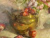 Free Artistic Wallpaper : Charles Warren Mundy - Brass With Apples and Roses