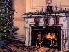 Free Artistic Wallpaper : Christmas - Fireplace