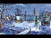Free Artistic Wallpaper : Christmas - Town