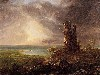 Free Artistic Wallpaper : Cole - Romantic Landscape with Ruined Tower