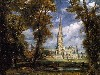 Free Artistic Wallpaper : Constable - Salisburry Cathedral from the Bishop's Grounds