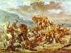 Free Artistic Wallpaper : Delacroix - Lion Hunting