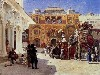 Free Artistic Wallpaper : Edwin Lord Weeks - Arrival of Prince Humbert the Rajah
