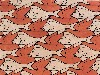 Free Artistic Wallpaper : Escher - Bird Fish