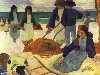 Free Artistic Wallpaper : Gauguin - The Seaweed Collectors