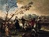 Free Artistic Wallpaper : Goya - Dance of the Majos at the Banks of Manzanares