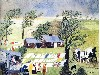 Free Artistic Wallpaper : Grandma Moses - Taking in the Laundry