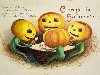 Free Artistic Wallpaper : Halloween - Vintage Postcard