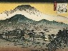 Free Artistic Wallpaper : Hiroshige - Evening View of a Temple in the Hills