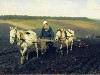 Free Artistic Wallpaper : Ilya Repin - Portrait of Leo Tolstoi as a Ploughman on a Field