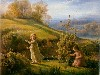 Free Artistic Wallpaper : Louis Janmot - Le Printemps