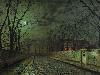 Free Artistic Wallpaper : John Atkinson Grimshaw - Alley