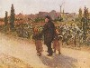 Free Artistic Wallpaper : Jules Bastien Lepage - All Soul's Day