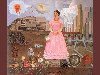 Free Artistic Wallpaper : Kahlo - Self Portrait Between the Borderline of Mexico and the United States