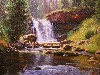 Free Artistic Wallpaper : Keathley - Reflections of Moose Falls
